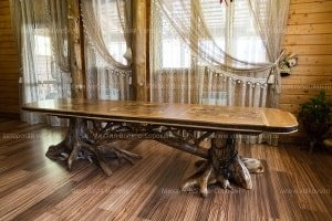 Large dining table on stumps