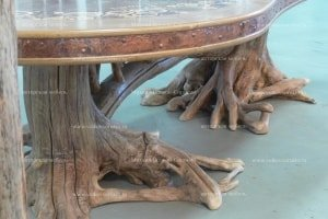 Table on legs of roots